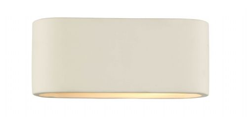 Axton 1-light Matt Ceramic Small Double Insulated Wall Light (Class 2 Double Insulated) BXAXT072-17